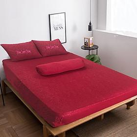 Hình đại diện sản phẩm Bộ drap thun gấm Home Sweet Home (Ngũ Hành - Hỏa)