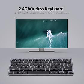 Bàn phím không dây 2.4G 78 phím cực êm
