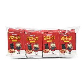( Hương vị Hàn) OURHOME Rong biển vị kim chi (4g x 8 gói)