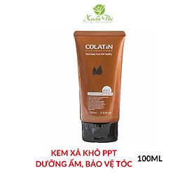 Kem xả khô dưỡng tóc PPT COLATIN 100ml Keratin Conditioner Cream phục hồi hư tổn, dưỡng ẩm cho tóc
