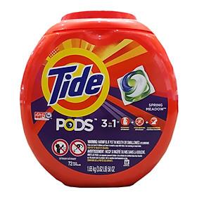 Viên giặt Tide PODS Spring Meadow 3 in 1 - Hộp 72 viên 1.65 Kg