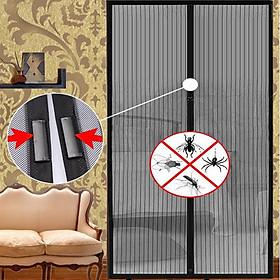 1 Bộ Rèm Lưới Chống Muỗi Có Nam Châm Tiện Dụng Màu Đen (210x100cm)