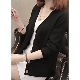 Áo cardigan len nữ 2 túi trước LAHstore, thời trang trẻ, phong cách Hàn Quốc