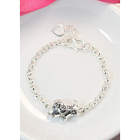 Lắc tay bạc cho bé trai, bé gái, tuổi tuất, tuổi con chó LTT0019