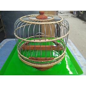 Lồng chim cu gáy 30 cm tặng khây hứng phân