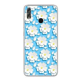 Ốp điện thoại Huawei Honor 8X - Silicon dẻo - 0124 HOA3D - Hàng Chính Hãng