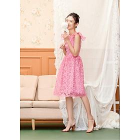 Đầm Celia ren hồng tím  (Size:S,M,L )
