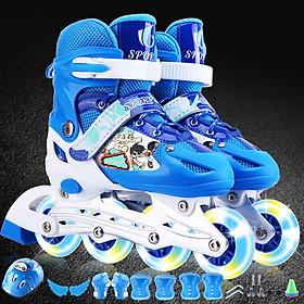 Giày Patin thể thao trẻ em - màu xanh