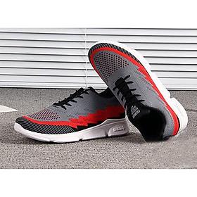 Giày sneaker thể thao nam năng động G53 xám đỏ