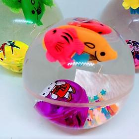 Quả bóng trong suốt có đèn và con cá đồ chơi cho bé PKS màu sắc ngẫu nhiên