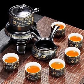 Bộ ấm chén pha trà cối xay sm 001 - xanh đen trắng