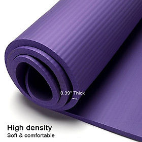 0.39 Inch Thick Exercise Mat Yoga Workout Mat for Woman Exercise Mat Home-7