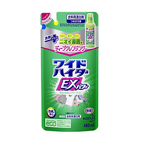 NƯỚC TẨY QUẦN ÁO WIDE HAITER EX POWER KHỬ MÙI (480ml/túi)- Mẫu mới