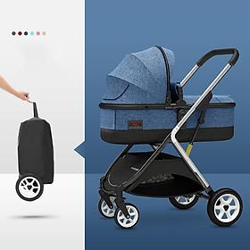Xe đẩy nôi cao cấp  cho bé 2 chiều 3 tư thế, siêu nhẹ 7kg, gấp gọn thành vali xách có túi đi kèm và quà tặng mùng, chiếu, dây chống tuột