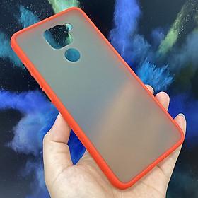 Ốp lưng cho Xiaomi Redmi Note 9 - Redmi 10X 4G trong nhám viền màu