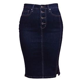 Chân Váy Jean 4 Nút Myone MS120083 - Xanh Đậm