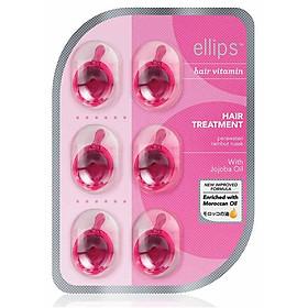 Combo 5 Vỉ Serum Vitamin Dưỡng Tóc Phục Hồi Hư Tổn Ellipps Hair Treatment (6 Viên /Vỉ)