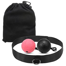 Boxing Reflex Ball Set 2 Level Punching Training Balls with Nylon Sport Headband