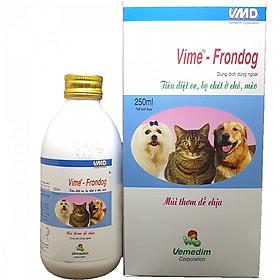 Chai Xịt Diệt Bọ Chét Rận Tai Cho Chó Mèo - Frontdog 250ml
