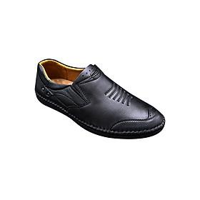 Hình đại diện sản phẩm Giày Lười Nam Shoes Or Peace PMCN007-T - Đen