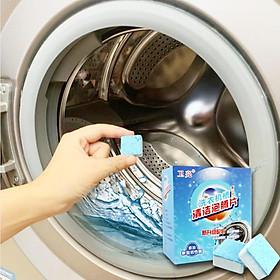Viên Tẩy Lồng Máy Giặt Khử Sạch Cặn Bẩn, Vệ Sinh Máy Giặt Diệt Khuẩn Và Khử Mùi Lồng Máy - Đa Năng Phù Hợp Sử Dụng Cho Nhiều Loại Máy Giặt (Hộp 6 Viên)
