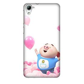Hình đại diện sản phẩm Ốp lưng nhựa cứng nhám dành cho HTC Desire 826 in hình Heo tung bóng