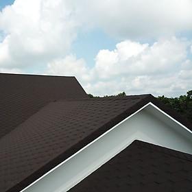 Ngói bitum CANA tổ ong  - ngói dán phủ đá Hàn Quốc - ngói nhẹ cho mái bê tông, mái gỗ nhà phố, biệt thự, nhà gỗ, nhà tiền chế - màu Nâu