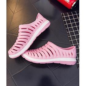 Giày lười nhựa dẻo nữ LAHstore, chất liệu nhữa dẻo mềm, thích hợp du lịch đi chơi, đi biển, thời trang phong cách trẻ