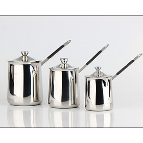 Stainless Steel Milk Pot Coffee Tea Boiling Pot with Lid Non-stick Stockpot Cookware
