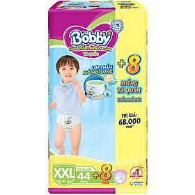 Tã quần Bobby - Đệm Lưng Thấm Mồ Hôi XXL44 (44 miếng) - Tặng 8 miếng trong gói