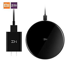 Xiaomi ZMI Qi Wireless Charger Fast Charging Pad For iPhone XR XS MAX 8 Plus Samsung Note 8 S9 Plus S8 Plus S7 Edge 10W