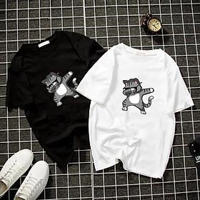 Áo thun Nam Nữ Không cổ MÈO HIPHOP CIMT-0028 mẫu mới cực đẹp, có size bé cho trẻ em / áo thun Anime Manga Unisex Nam Nữ, áo phông thiết kế cổ tròn basic cộc tay thoáng mát