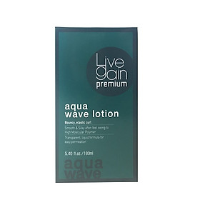 Thuốc uốn tóc, chỉ sử dụng trong salon chuyên nghiệp Livegain Premium AQUA Wave Lotion