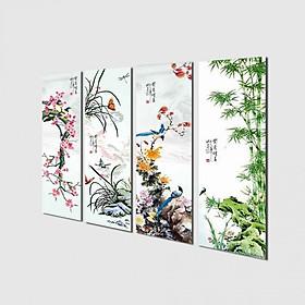Tranh treo Tường Tứ quý TQ907624- Tranh treo tường đẹp