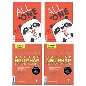 Combo Sách Học Tiếng Anh Cho Học Sinh Trung Học: Bài Tập Ngữ Pháp Tiếng Anh Căn Bản + All In One - Tiếng Anh Trung Học Cơ Sở
