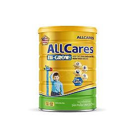 Sữa bột ALLCares HI-GROW+ lon 900g - Giúp trẻ tăng chiều cao tốt, Hoàn thiện não bột của NutiFood