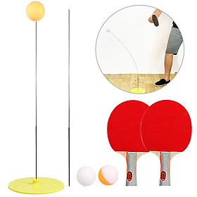 Table Tennis Trainer Ping Pong Rackets and Balls Base Training Practice Set