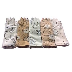 Bao tay găng tay Nữ chất liệu vải cotton chống nắng giữ ấm lái xe, -B04