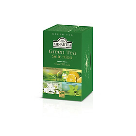 TRÀ XANH AHMAD ANH QUỐC - BỘ SƯU TẬP TRÀ XANH (40g) - Green Tea Selection - 4 loại Trà cho những người yêu thích trà Xanh