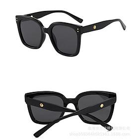 Kính mát nữ gọng vuông phong cách Hàn Quốc chống tia UV400, kính râm Hottrend 206