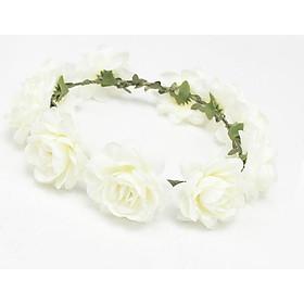 Hair Band Wreath White Headwear Wedding Bridal Flowers
