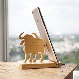 Đế gỗ để điện thoại iPad CON TRÂU - BỘ 12 CON GIÁP