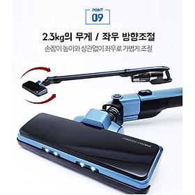 Máy hút bụi lau nhà, chăn nệm, xe hơi, oto cầm tay pin sạc không dây nội địa chính hãng Hàn Quốc