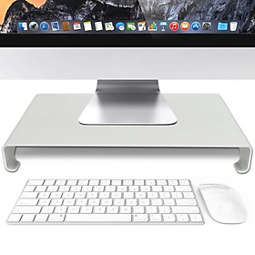 Kệ màn hình máy tính nhôm dày 3.5mm AF21 kiêm giá đỡ dành cho Imac, laptop Macbook và tivi cỡ lớn