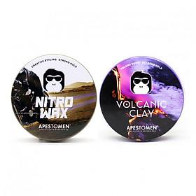 Bộ 2 sáp vuốt tóc Apestomen Volcanic Clay và Nitro Wax