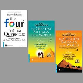 Combo 3 cuốn sách kinh tế hay nhất: Tứ Đại Quyền Lực + Người Bán Hàng Vĩ Đại Nhất Thế Giới  Tập 1+ 2/ Bộ sách là câu chuyện của những người vĩ đại
