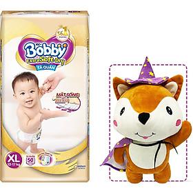 Tã Quần Cao Cấp Bobby Extra Soft Dry XL50 (50 mếng) - Tặng 1 cáo bông xinh xắn