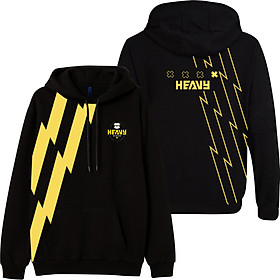 Áo khoác đen Free Fire chất liệu nỉ bông in hình Heavy - Hoodie Heavy