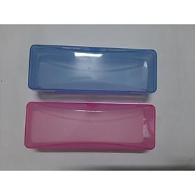 Bộ 2 hộp đựng kính nhựa trong suốt