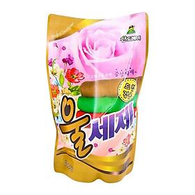 Nước giặt vải Len & Dạ hương nước hoa Sandokkaebi túi 500g nhập khẩu Hàn Quốc